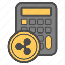 account, calc, cryptocurrency, ripple icon