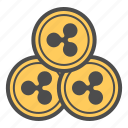 cash, coin, coins, cryptocurrency, ripple icon