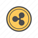 cash, coin, cryptocurrency, money, ripple icon