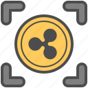 coin, cryptocurrency, money, ripple icon