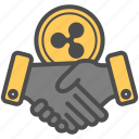 agreement, contract, cryptocurrency, deal, ripple icon