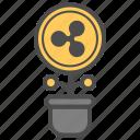 cryptocurrency, invest, money, ripple icon