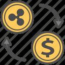 cryptocurrency, dollar, money, ripple, transfer, usd