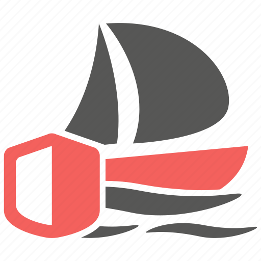 boat, insurance, protection, sea, ship, travel, yacht icon