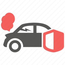 accident, car, crash, fix, insurance, risk, shield icon