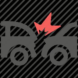 accident, car, collision, crash, hazard, insurance, risk icon
