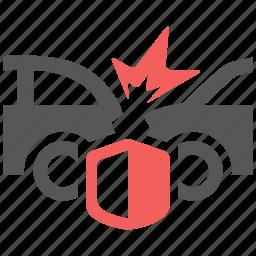 accident, car, collision, hazard, insurance, risk icon