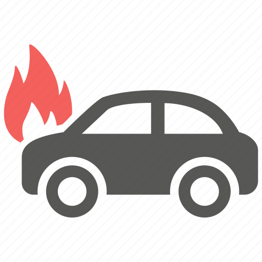 accident, auto, car, fire, hazard, insurance, risk icon