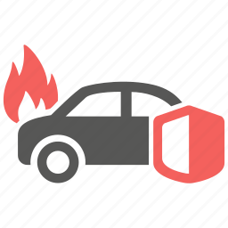 accident, car, fire, hazard, insurance, risk icon