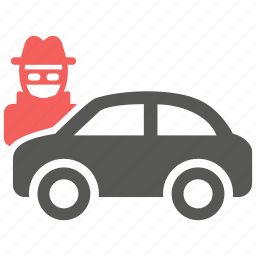 accident, automobile, car, risk, theft, vandalism, vehicle icon
