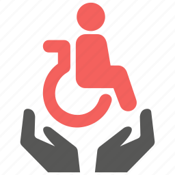 accident, care, disability, disabled, insurance, protection, security icon