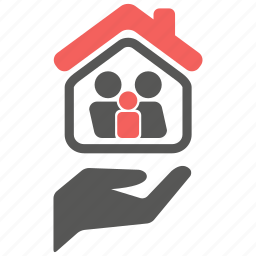 care, family, house, insurance, life, protection icon