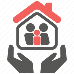 care, family, home, house, life, protection icon