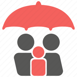 family, home, insurance, life, people, protection, umbrella icon