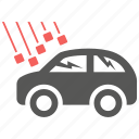 accident, damage, danger, hail, insurance, problem, risk icon