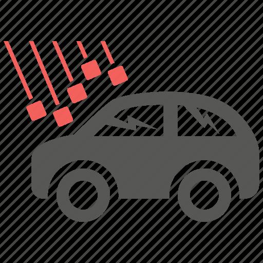 accident, damage, danger, hail, insurance, problem, risk icon