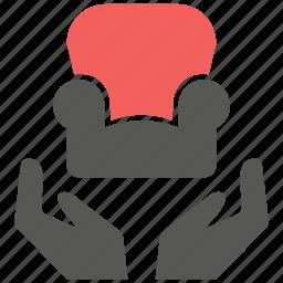 care, chair, furniture, house, interior, sofa icon