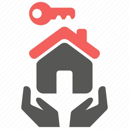 care, house, insurance, key, landlord, protection icon