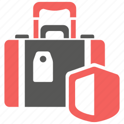 bag, baggage, insurance, luggage, protection, safety, suitcase icon