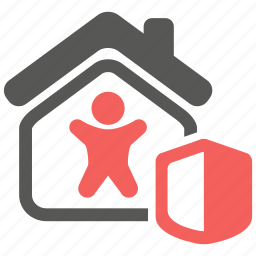 home, house, insurance, life, mortage, protection, security icon