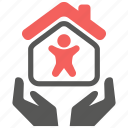 home, house, insurance, life, mortage, safety, security icon