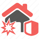 bomb, explosion, hazard, insurance, property, risk icon
