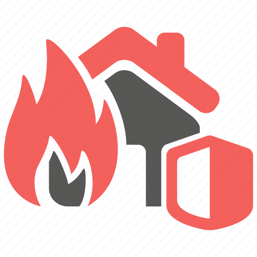 accident, fire, hazard, insurance, property, risk icon