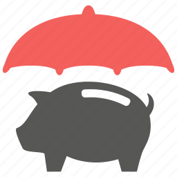 money, pig, protection, save, savings, secure icon