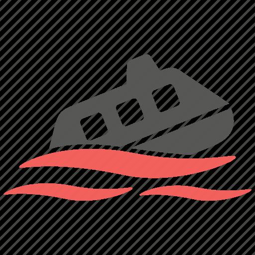 accident, marine, risk, sea, ship, sinking, yacht icon