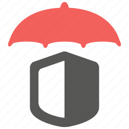 hazard, insurance, protection, risk, security, umbrella icon