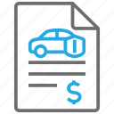 auto, insurance, policy, vehicle icon
