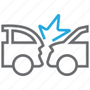 car, collision, crash, damage icon