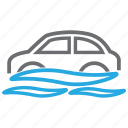 auto, car, flood icon