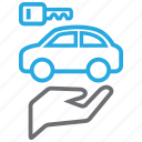 automobile, buy, car, owner, service icon
