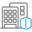 building, condominium, insurance icon