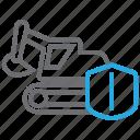 equipment, excavator, insurance icon