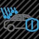 car, damage, hail, insurance icon
