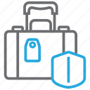 baggage, insurance, luggage, suitcase icon