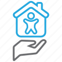 house, insurance, life, mortage icon