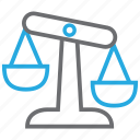 evaluation, risk, balance, scale, law icon