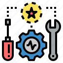 applied, construction, equipment, instrument, machine, repair, tool icon