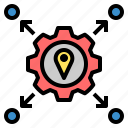 based, distribution, factory, hub, location, map, navigation icon