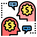 business, connect, finance, financial, marketing, money, talk icon