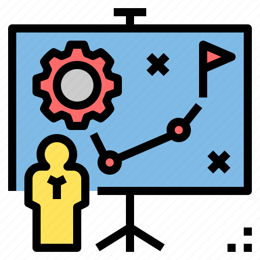 business, marketing, planning, presentation, project, strategy, tactic icon
