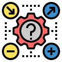likelihood, options, possible, probability, process, settings, system icon