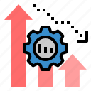 analytics, decrease, graph, loss, reduce, statistic, statistics icon