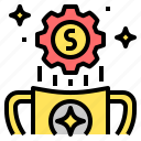 award, business, finance, money, reward, value, worth icon