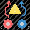 avoid, danger, hazard, problem, risk, shun, warning icon