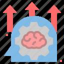 brain, creative, idea, potential, practice, think, train icon