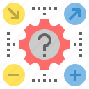 configuration, likelihood, possible, probability, process, settings, system icon